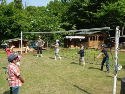 First volleyball lesson at Tsukuba International School