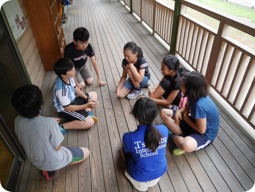 Tsukuba International School - Kids on the veranda